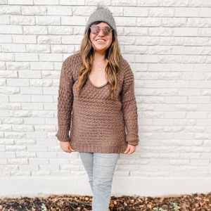 Free People Crochet Pullover Sweater